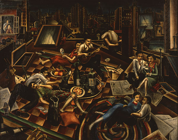 Bumpei Usui, Party on the Roof (1926)