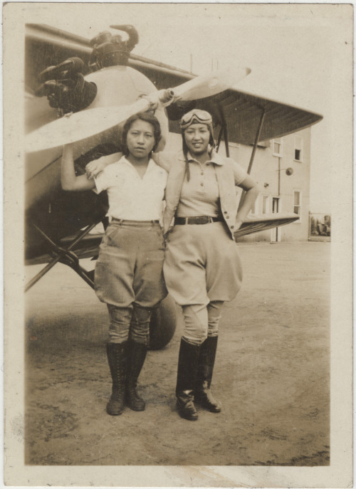 Chinese American Women Airforce Pilots in the 1930s